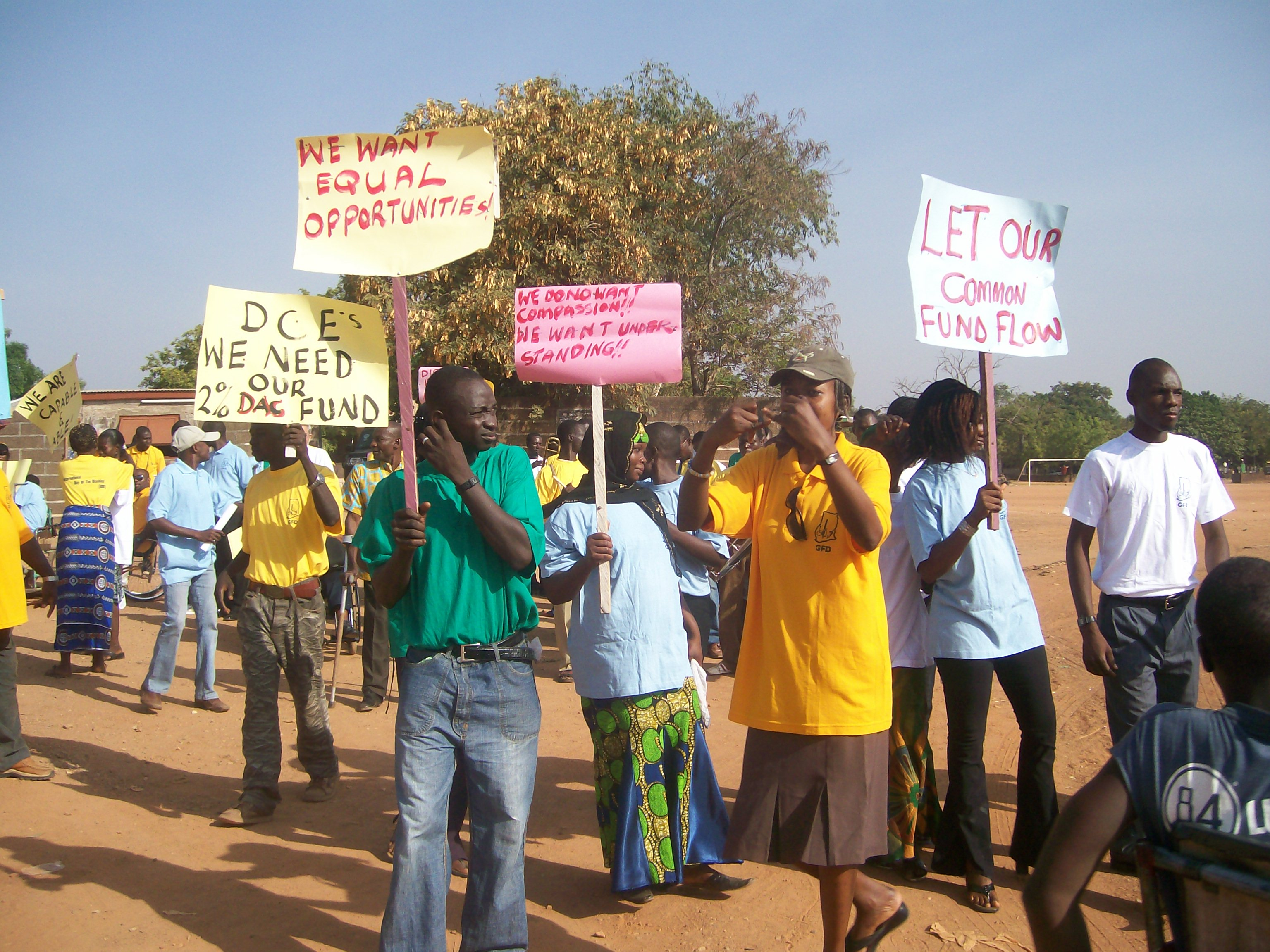 Route march through the streets of Bolgatanga