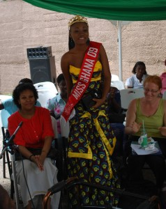 Miss Ghana 2009 at the meeting