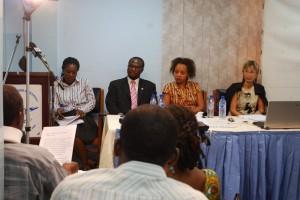 Ms. Ellen Dzah - ABANTU  Mr. Andrew Okaikoi - Nat. Council on Persons with Disability, Dr. Aryee-Boi - 37 Military Hosp., Dr. Mira Taylor - Koforidua Reg. Hosp.
